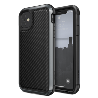 Чехол X-Doria Defense Lux для iPhone 11 Чёрный карбон